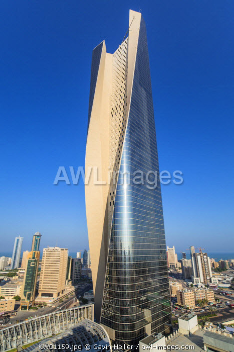 Kuwait, Kuwait City, the Al Hamra building, tallest building in Kuwait completed in 2011