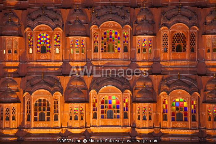 India, Rajasthan, Jaipur, Hawa Mahal (Palace of the Winds)