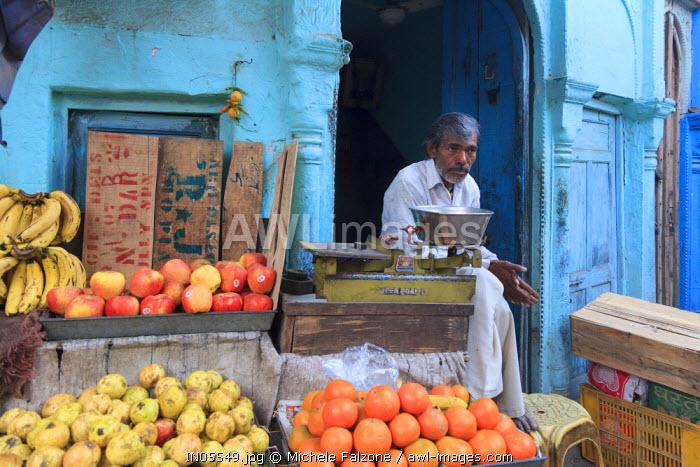 India, Rajasthan, Bikaner, Old Town, Local Market