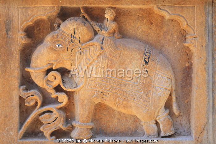 India, Rajasthan, Jaisalmer, Old Town, Nathmal Ki Haveli (Traditional Ornately decorated residence)