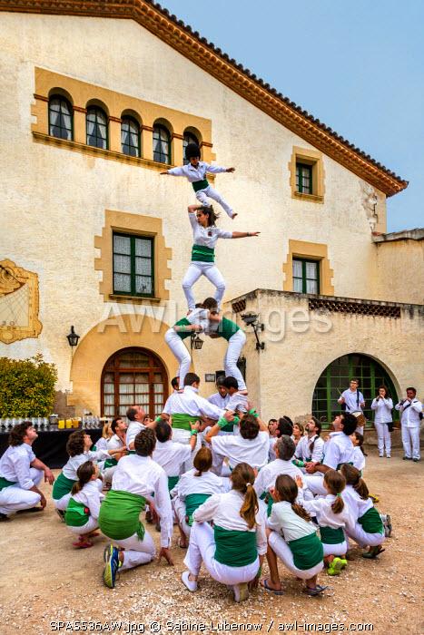 Human castle, Cavas de Bohigas, Catalonia, Spain