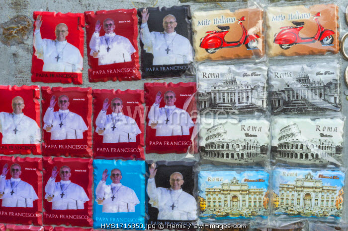 Italy, Lazio, Rome, Pope Francis is the 266th pope of the Catholic Church