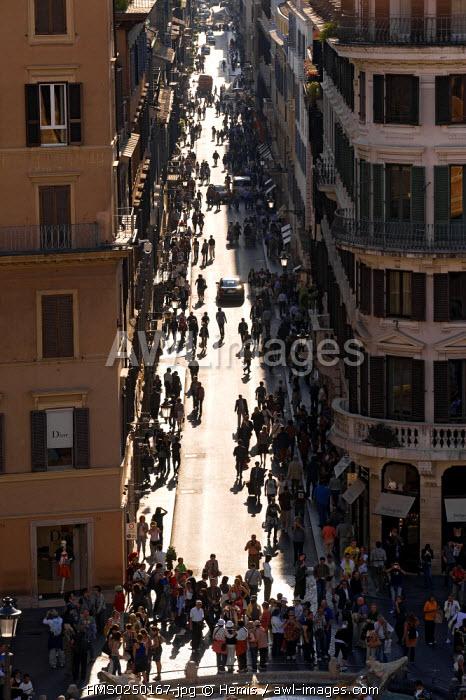 Italy, Lazio, Rome, historical centre listed as World Heritage by UNESCO, Via dei Condotti