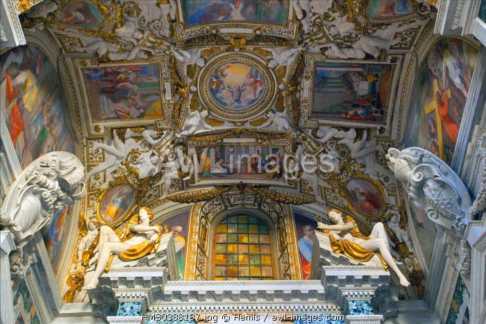 Italy, Lazio, Rome, historical center listed as World Heritage by UNESCO, Trinita dei Monti church