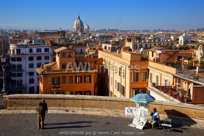 Italy, Lazio, Rome, historical center listed as World Heritage by UNESCO, Piazza Trinita dei Monti