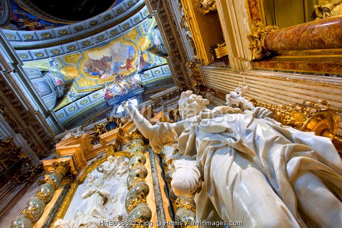 Italy, Lazio, Rome, historical center listed as World Heritage by UNESCO, Sant 'Ignazio Di Loyola Campo Marzio church (St Ignatius of Loyola)