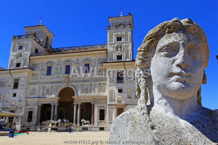 Italy, Lazio, Rome, historical center listed as World Heritage by UNESCO, Villa Medicis, today French Academy in Italy