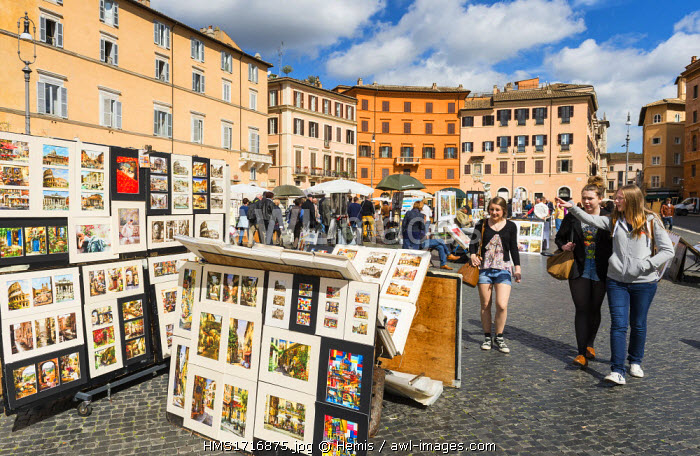 Italy, Lazio, Rome, historical centre listed as World Heritage by UNESCO, Piazza Navona