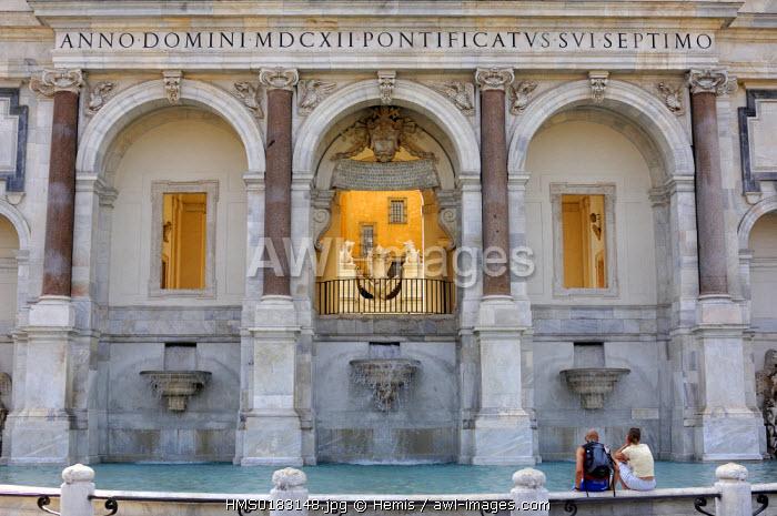 Italy, Lazio, Rome, Dell' Acqua Paola fountain in the Gianicolo (Janiculum Hill)