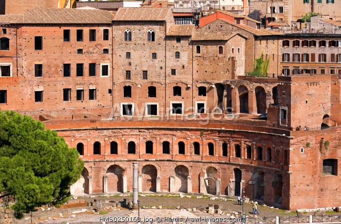 Italy, Lazio, Rome, historic centre listed as World Heritage by UNESCO, Mercati di Traiano (Trajan's market)