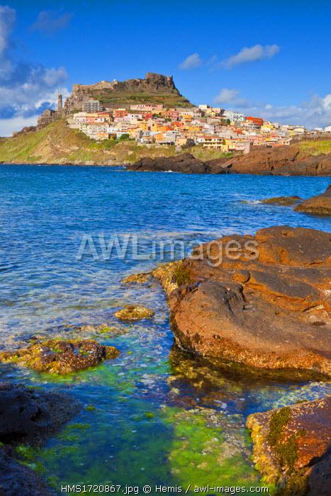 Italy, Sardinia, Sassari Province, Gulf of Asinara, village of Castelsardo