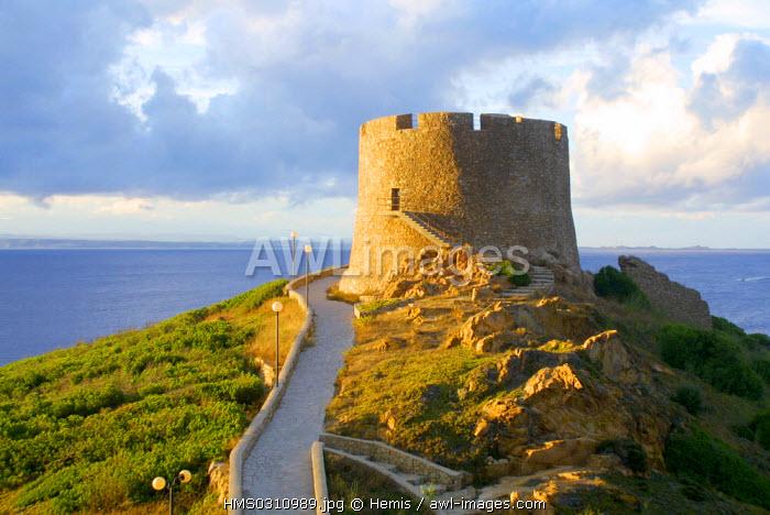 Italy, Sardinia, Santa Teresa di Gallura, tower of Santa Teresa di Gallura