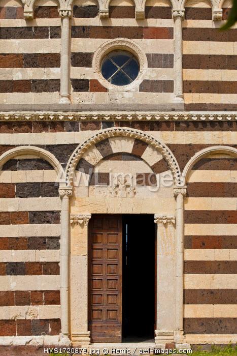 Italy, Sardinia, Sassari province, Codrongianos Basilica della Santissima Trinita di Saccargia 12th century Romanesque