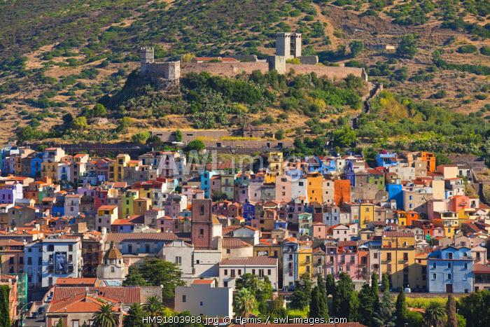 Italy, Sardinia, Nuoro province, Bosa, on the bank of river Temo