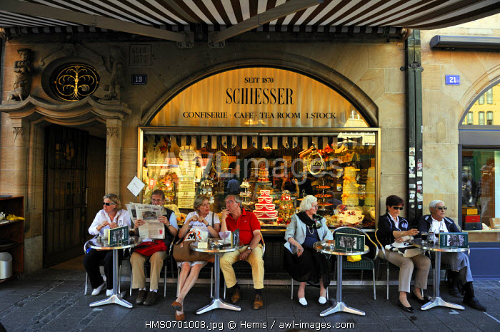 awl-images.com - Switzerland / Switzerland, Basel, old city, Marktplatz (Market square), Cafe and tearoom Schiesser