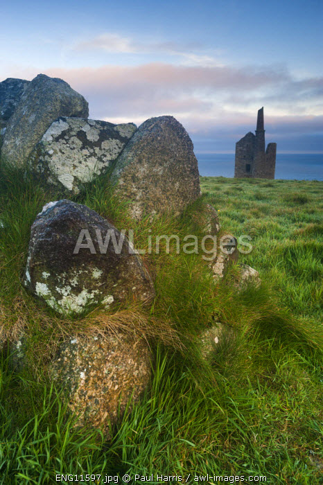 awl-images.com - England / Old Tin mine workings, Botallack, Pendeen,Cornwall, England