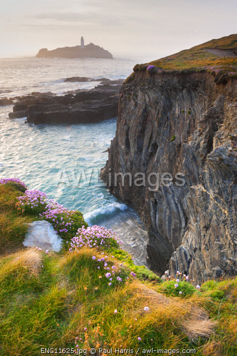 awl-images.com - England / Coastal Cliffs, Godrevy Point, nr St Ives, Cornwall, England