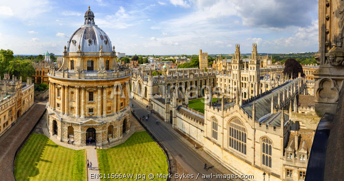 awl-images.com - England / Europe, United Kingom, England, Oxfordshire, Oxford, Radcliffe Camera and All Souls College