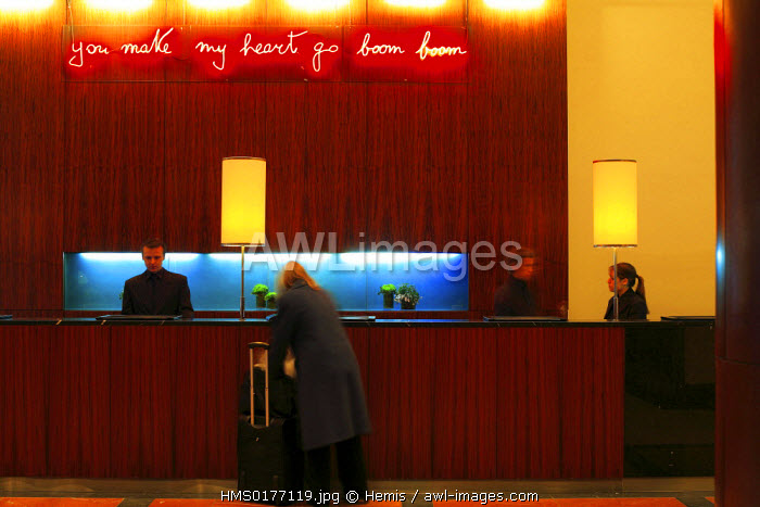 awl-images.com - England / United Kingdom, London, lobby of Terence Conran's The Great Eastern Hotel