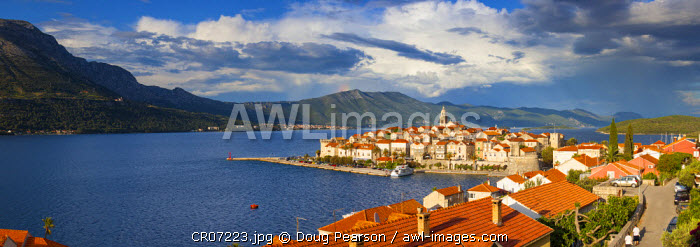 awl-images.com - Croatia / Elevated view over picturesque Korcula Town, Korcula, Dalmatia, Croatia