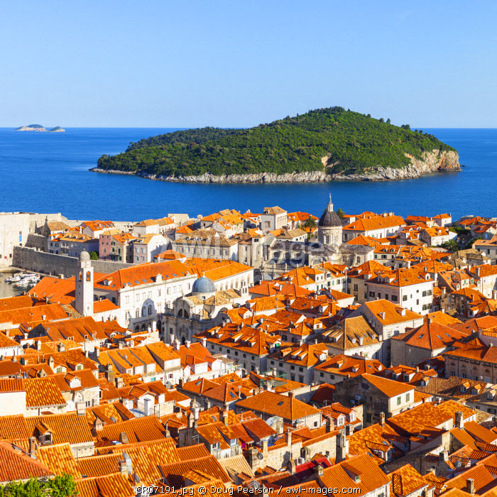 awl-images.com - Croatia / Elevated view over picturesque Stari Grad (Old Town), Dubrovnik, Dalmatia, Croatia
