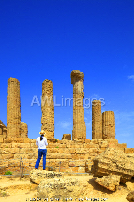 Temple of Juno, Valley of the Temples, Agrigento, Sicily, Italy