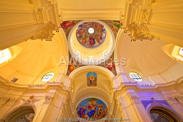Interior of San Nicolo Cathedral, Noto, Sicily, Italy