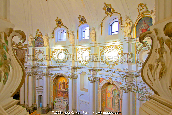 Interior of Chiesa di Santa Chiara, Noto, Sicily, Italy