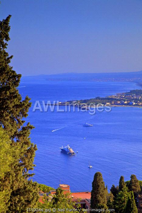View from Greek Theatre Over Taormina, Taormina, Sicily, Italy