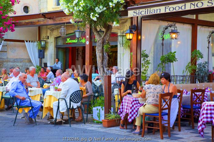 Restaurant, Taormina, Sicily, Italy