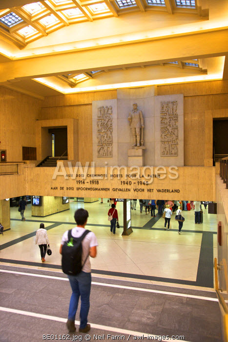 Brussels Central Railway Station, Brussels, Belgium
