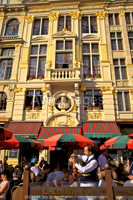 Cafe in the Grand Place,  Brussels, Belgium
