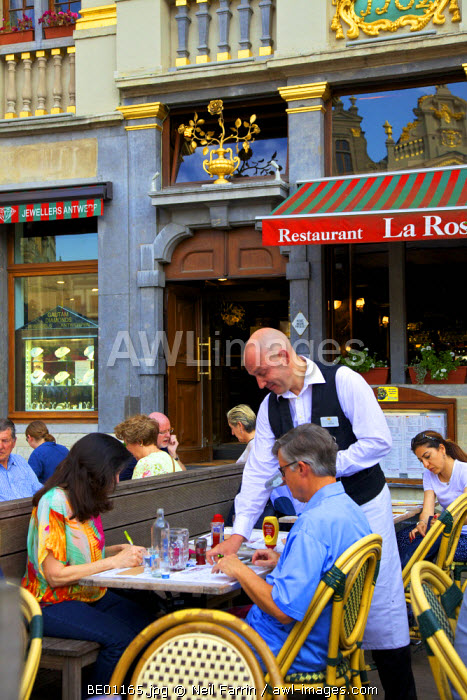Restaurant in the Grand Place,  Brussels, Belgium