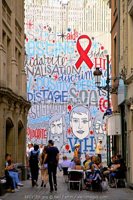 Mural, Brussels, Belgium