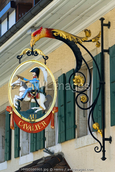 Switzerland, Canton of Vaud, Lake Geneva region, signboard