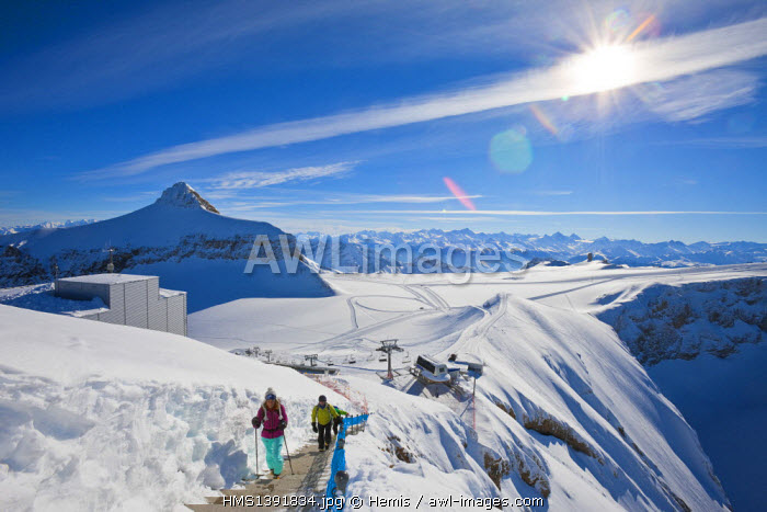Switzerland, Canton of Vaud, Col de Pillon, Glacier 3000