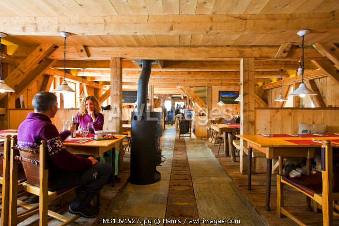 Switzerland, Canton of Vaud, Gryon, The Cowshed Restaurant, Family Gruaz