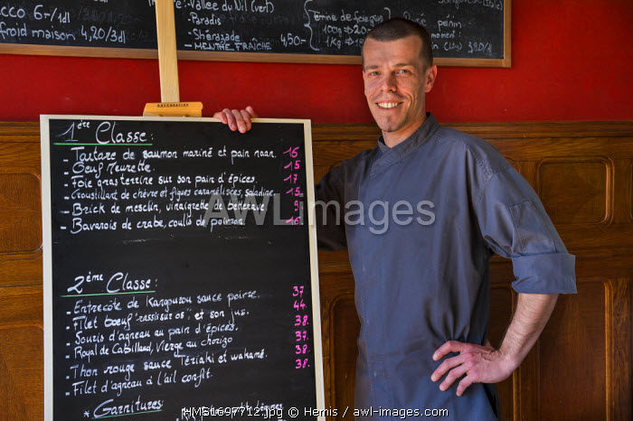Switzerland, Canton of Vaud, Lausanne, The Tramway restaurant, chief cook Yves Pannier