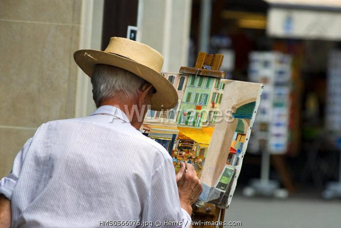 Switzerland, Canton of Vaud, Vevey, Sunday painter