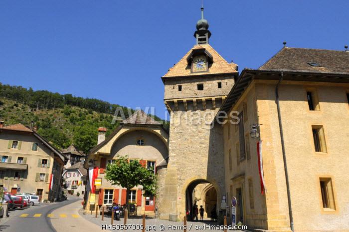 Switzerland, Canton of Vaud, Romainmutier, Cluny Abbey