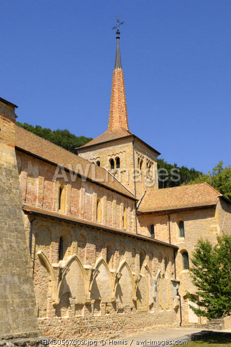Switzerland, Canton of Vaud, Romainmutier, Cluny Abbey