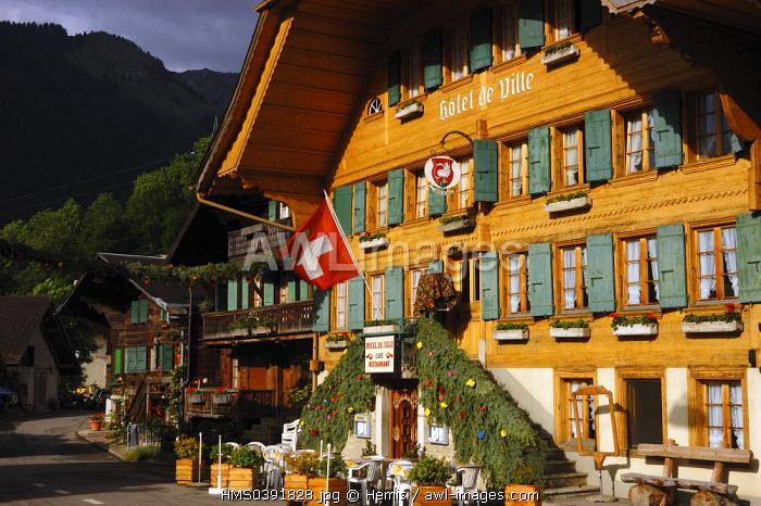 Switzerland, Canton of Vaud, Pays D'enhaut, Rossiniere, town hall