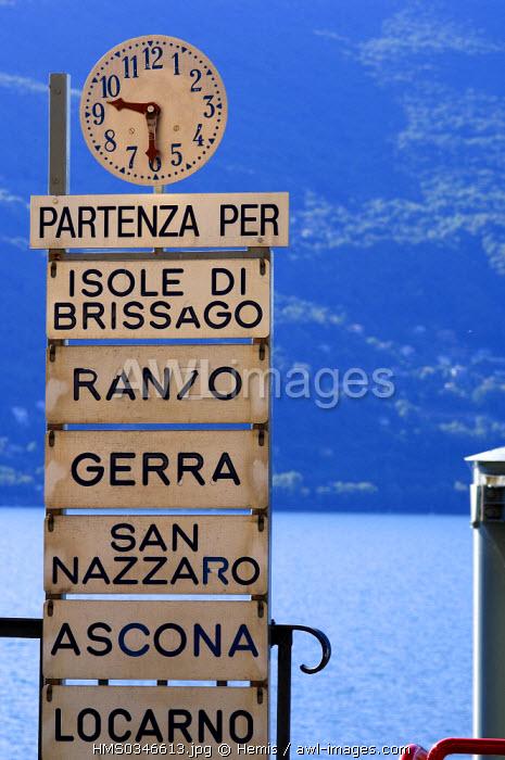 Switzerland, Ticino, Brissago, Maggiore Lake, Harbour