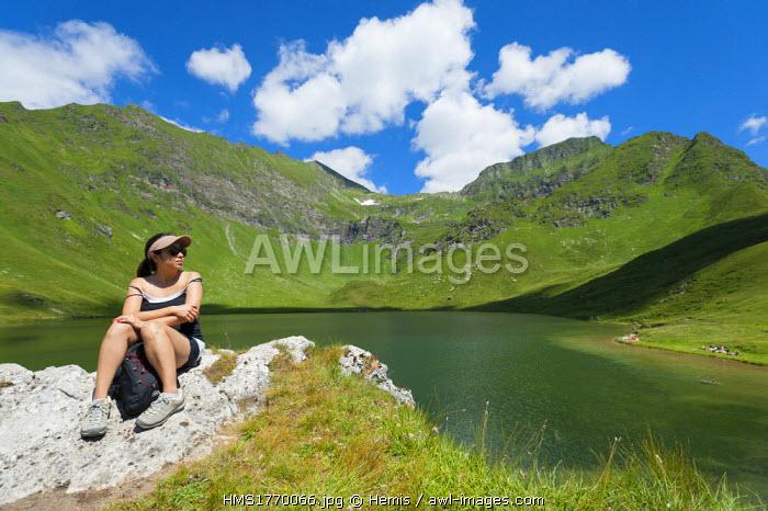 Switzerland, Ticino, Gotthard range, Piora valley, trekking to Capanna Cadagno
