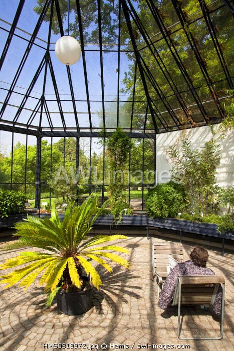 Switzerland, Zurich, former botanical garden of Zurick University, palm grove dating from 1877