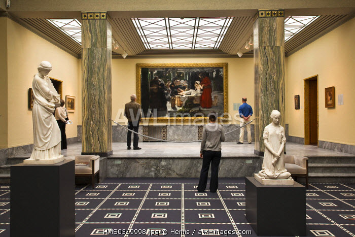 Switzerland, Zurich, Heimplatz, Kunsthaus Museum opened in 1910, works of art by the artist Albert Von Keller