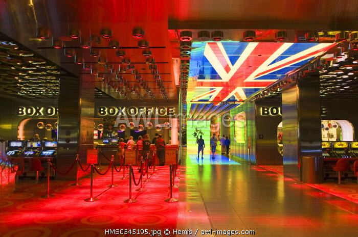 United States, Nevada, Las Vegas, Mirage casino , lobby reception of the hotel, Beatles show entrance