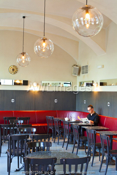 Vienna, Austria, Linke Wienzeile, Cafe Drechsler, redecorated in 2007 by Sir Terence Conran