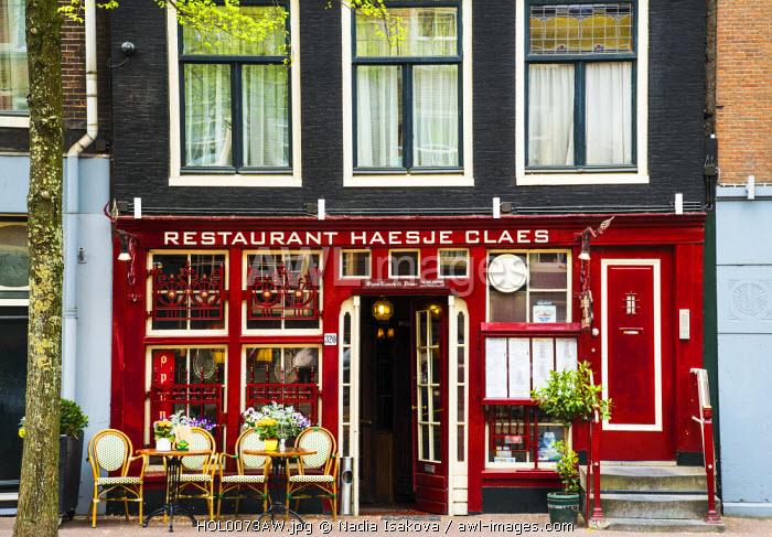 Traditional restaurant, Amsterdam, the Netherlands