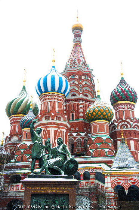 Saint Basil�s cathedral on the Red Square, Moscow, Russia